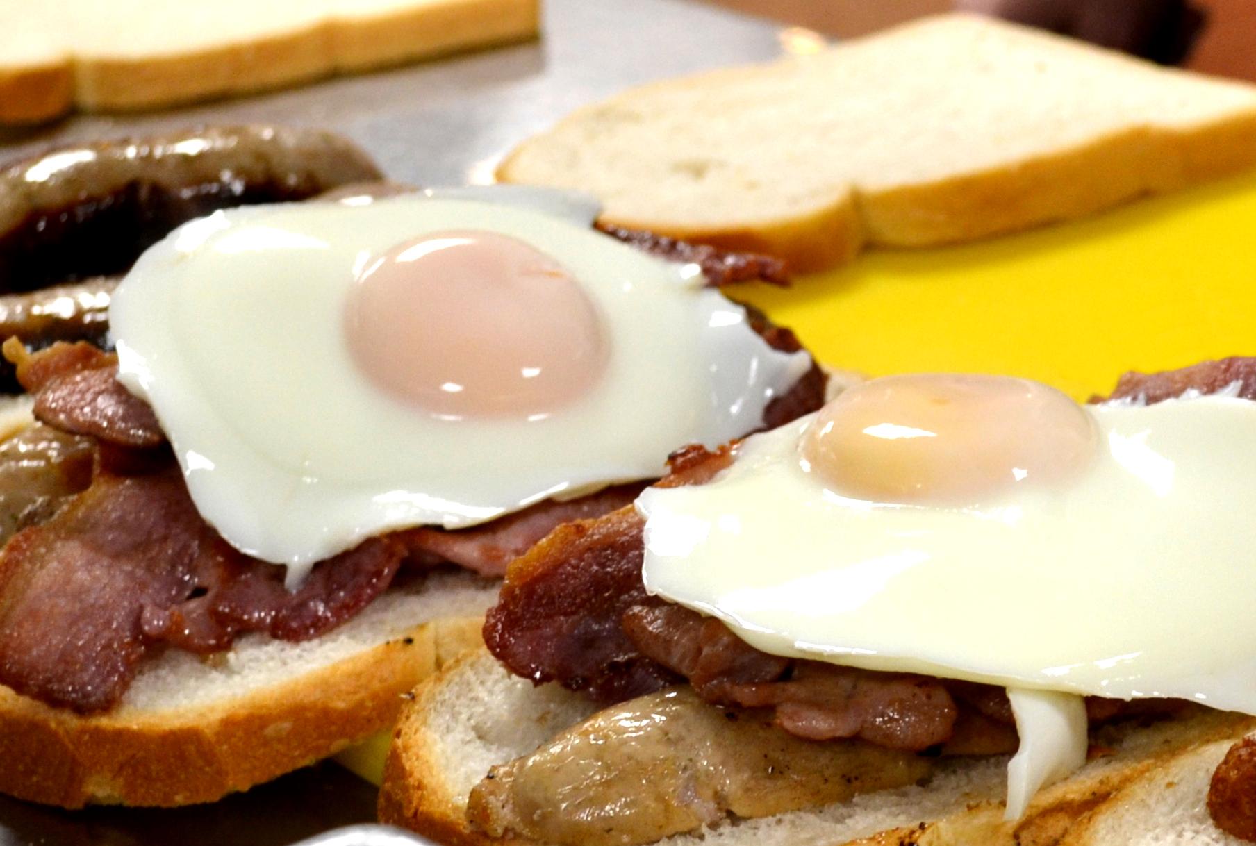 Breakfast Sandwich Bacon Sausage Egg