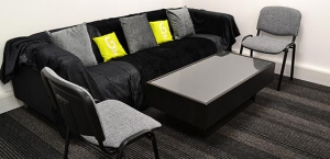 Meeting room settee area
