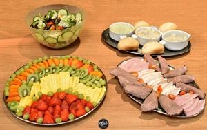 Fruit, Meat, Bread Platters