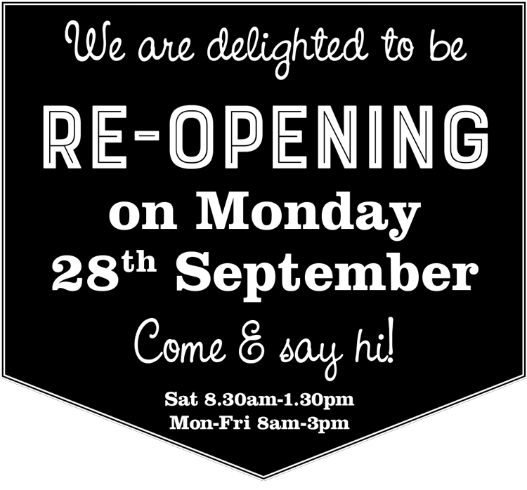 Re-opening 28th September